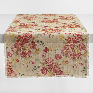 Floral Fringed Millie Table Runner