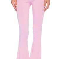 Wildfox Couture Foxercise Classic Logo Flare Legging in Pink
