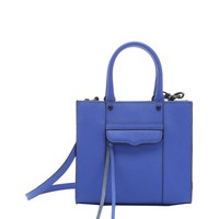 Ultraviolet Crosshatched Leather Mab Convertible Mini Tote