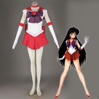 Athemis Anime Sailor Moon Rei Hino / Sailor Mars Cosplay Costume custom made Dress High Quality