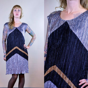 Vintage 70's Sparkle New Leaf by Samir California New Years Party Dress