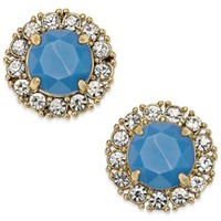 kate spade new york 14k Gold-Plated Blue Stone Stud Earrings | macys.com