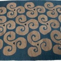 One Kings Lane - Wynne Ford, Wynne Alex - Blue Moon Dhoku Rug, 5' x 7'