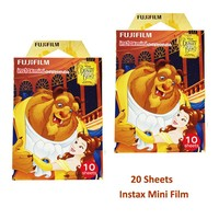 20 Sheets 2017 New Beauty And The Beast Fujifilm Instax Color Film Fuji Instant Photo For Fujifilm Instant Mini 300 SP-1 90 70