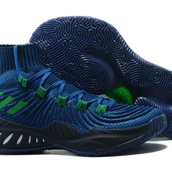 Adidas Performance Men's Crazy Explosive 2017 Primeknit Basketball-Shoes - Navy/Green