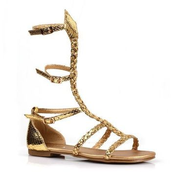 "0"" Children's Gladiator Flat Sandal."