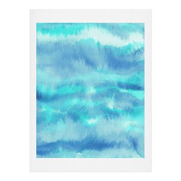 Jacqueline Maldonado Ombre Waves Blue Green Art Print