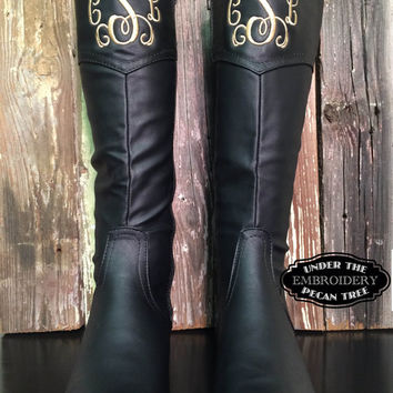 Customized Monogrammed Riding Boots