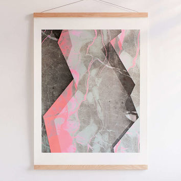 Emanuela Carratoni For DENY Marble And Rose Art Print - Urban Outfitters