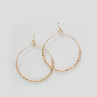 Marcy Gold Circle Hoop Dangle Earrings