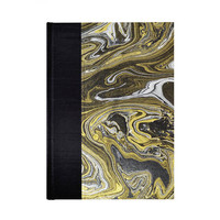 Graph Paper Sketchbook  Gold and Silver