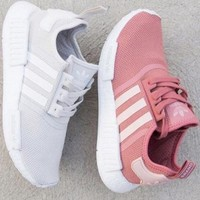 """Adidas"" NMD Fashion Sneakers Trending Running Sports Shoes Pure white"
