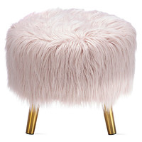 Audrey Round Ottoman | Small Seating & Ottomans | Small Spaces | Z Gallerie