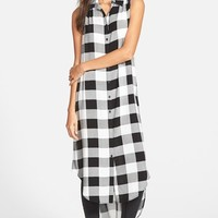 Junior Women's Cotton Express Plaid Tunic Shirt ,