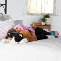 Oversized Calico Cat Stuffed Animal Body Pillow - Plow & Hearth