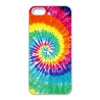 Shark®Rainbow Tie Dye Pattern Clear Case Cover Skin For Apple Iphone 6 (4.7-Inch)