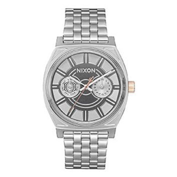 Nixon Time Teller Deluxe SW Watch - Phasma Silver