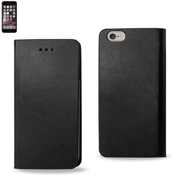 Reiko Reiko Iphone 6 Plus Flip Folio Case With Card Holder In Black