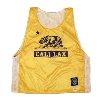California Cali Lax Bear Lacrosse Pinnie