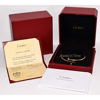Cartier Juste Un Clou Nail Size 20 Bracelet 18k Rose Gold Box/Papers B6048120