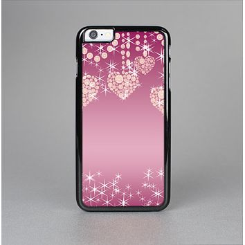 The Pink Sparkly Chandelier Hearts Skin-Sert Case for the Apple iPhone 6 Plus