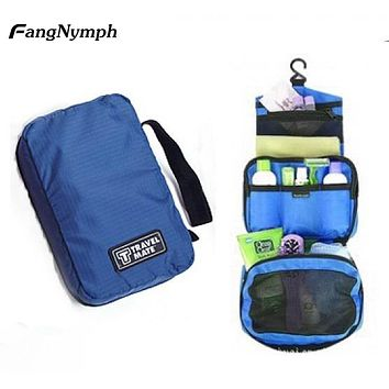 Solid Unisex Trip Hang Portable Washing Bags Cosmetic Bags Toiletry Bags 13*20*5cm