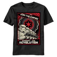 Star Wars Join The Empire Propaganda Poster Men's harajuku T Shirt   Mens 100 % Cotton Funny Tee Shirt Custom Print camisetas