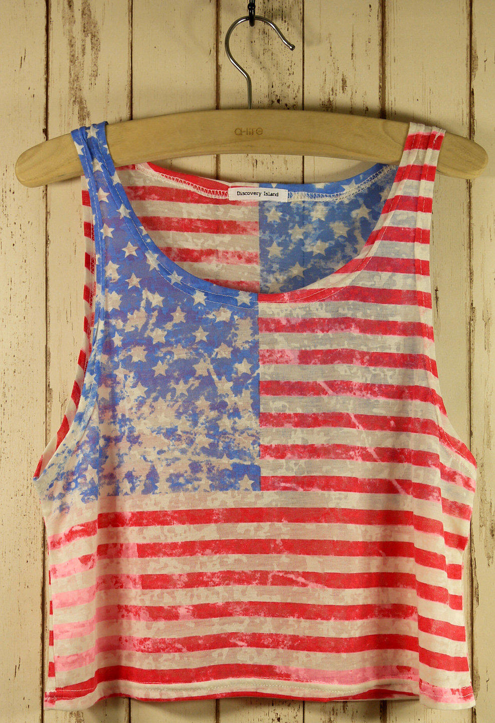 Retro American Flag Dyed Top