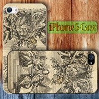 Antique Vintage Old Ephemera Custom iPhone 5 Case Cover