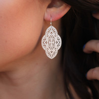 The Isabella Earring in Silver