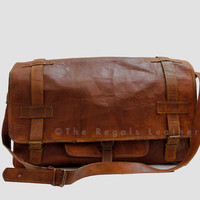 Leather Duffle Bag (20 Inch Vintage Style Handmade)/Duffel/ Sport/ Gym Utility Bag/Cabin Handbag / Bags For Weekend/ Picnic/ Travel Bag