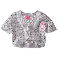 Hello Kitty Girls' Cardigan -  Mid Grey