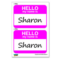 Sharon Hello My Name Is - Sheet of 2 Stickers