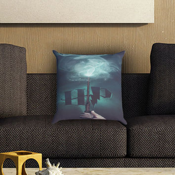stag patronus harry potter Pillow Cover , Custom Zippered Pillow Case One Side Two SIde