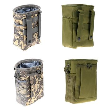 Military Molle Belt Tactical Magazine Dump Drop Reloader Pouch Bag Utility Hunting Magazine Pouch