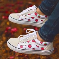 Vans Old Skool Strawberry Pattern Low-top Sneaker