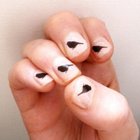 $3.17 sparrow nail transfers by katebroughton on Etsy