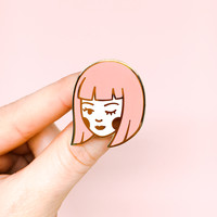 Little Flirt Enamel Pin
