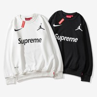Supreme Casual Letter Printed Round Neck Sweater