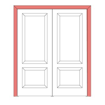Sarto  Quadro Casings Flat System and jambs Interior Double Doors