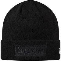 Supreme: New Era Box Logo Beanie - Black