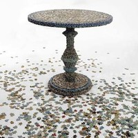Artist Painstakingly Assembles 1,000s of Puzzle Pieces into This Table | Inhabitat - Green Design Will Save the World