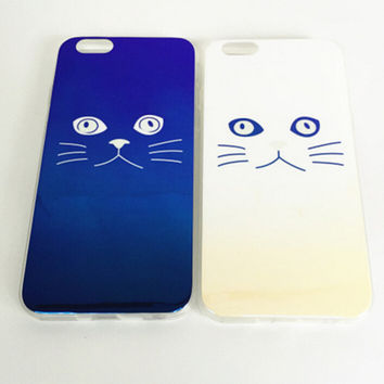 Laser Reflection Cat Silicone iPhone 6 6s Plus creative case Samsung Gift-93
