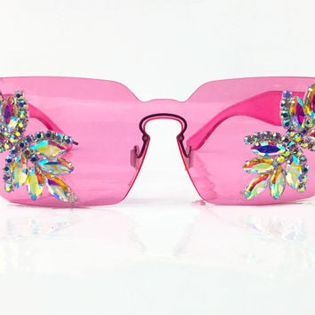 Pink Pastel Princess Glasses