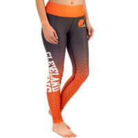 Cleveland Browns Womens Gradient Print Leggings