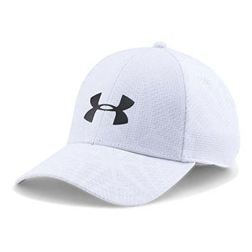 Under Armour Men's UA Coolswitch Train Cap White/Black Hat MD/LG (7-7 3/8)