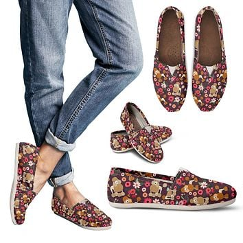 Poodle Flower Casual Shoes
