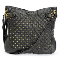 T-Shirt & Jeans Black Studded Faux Leather Tote Bag at Zumiez : PDP