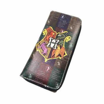 New listing Movie Harry Potter Wallet Map Wallets Men Women Money bag pocket Women Card Holder carteira mltifunction