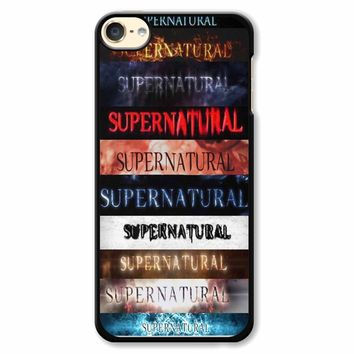 Supernatural Intro Seasons 1-10 iPod Touch 6 Case